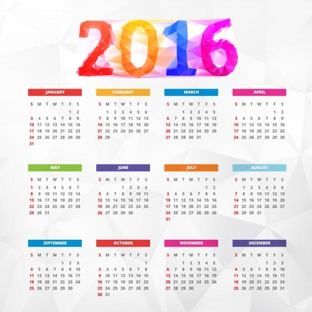 Calendario 2016 En Espanol | Calendar Template 2016
