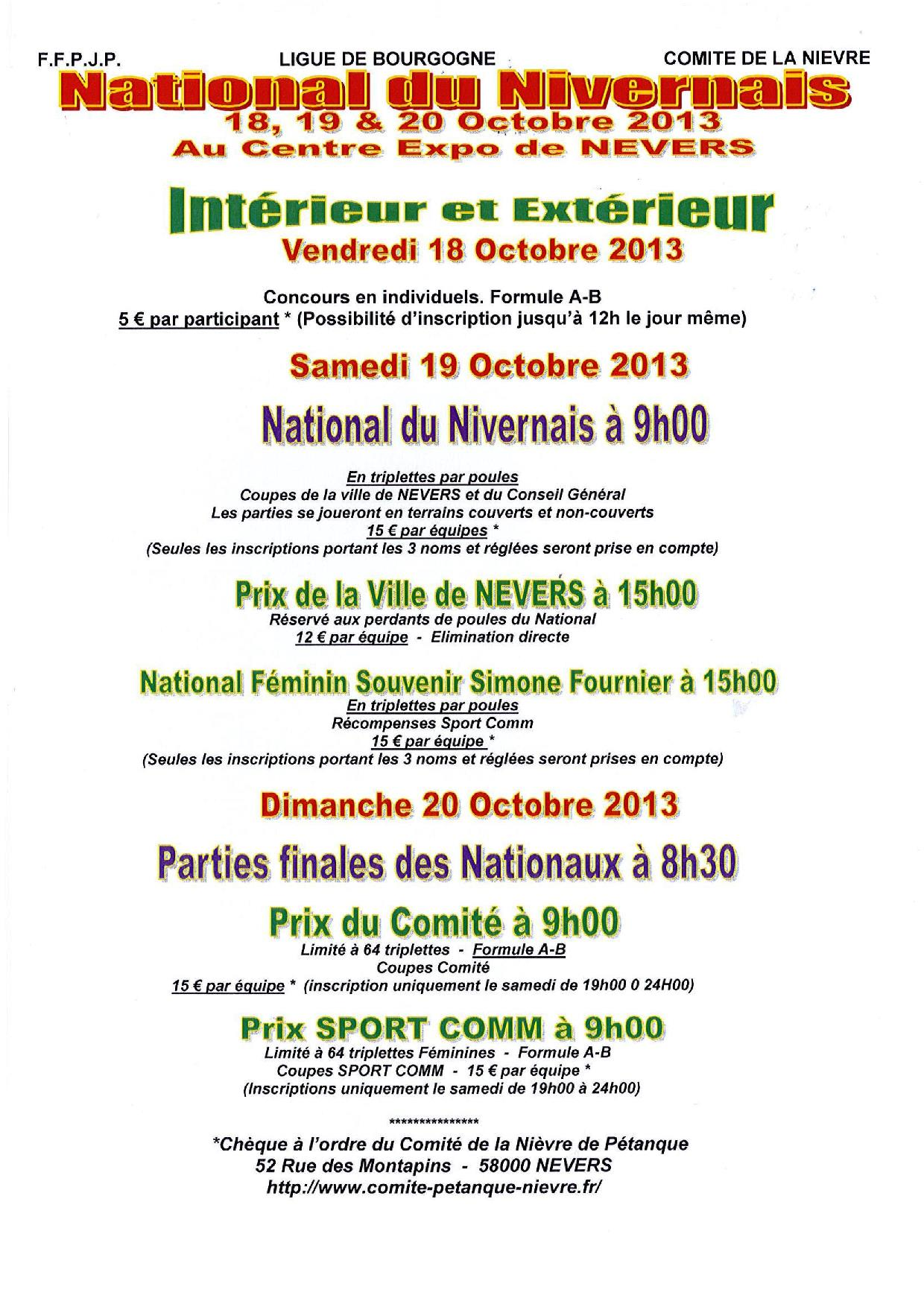 National du Nivernais 2013