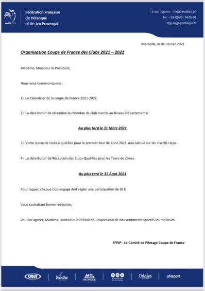 Comité de Petanque de la Nievre